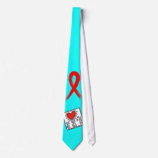 Cinta de la conciencia del SIDA Corbata Personalizada