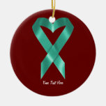 Cinta de la conciencia del trullo (personalizable) ornaments para arbol de navidad