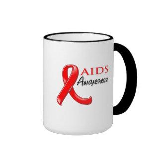 Cinta de la conciencia del VIH del SIDA Taza De Dos Colores