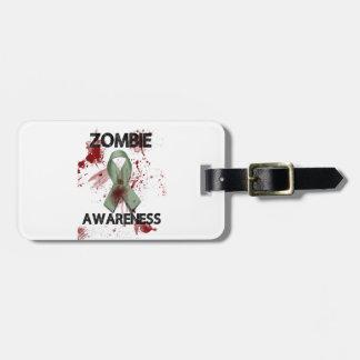 Cinta de la conciencia del zombi - etiqueta de maleta