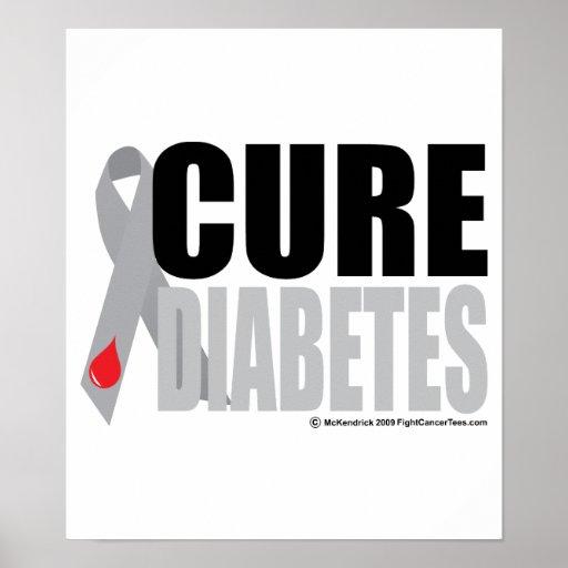 Cinta de la diabetes de la curación póster