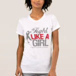 Cinta de la diabetes - lucha como un chica camiseta