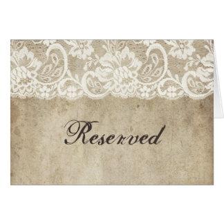 Cinta de la elegancia del vintage en casarse del tarjeta pequeña