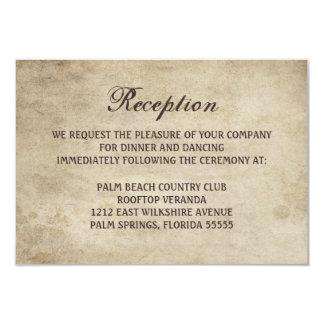 Cinta de la elegancia del vintage y tarjeta de la invitación 8,9 x 12,7 cm