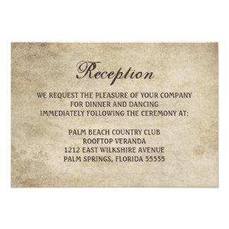 Cinta de la elegancia del vintage y tarjeta de la invitaciones personalizada