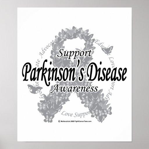 Cinta de la enfermedad de Parkinson de mariposas Poster