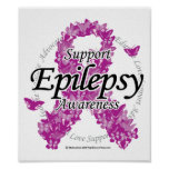 Cinta de la epilepsia de mariposas poster