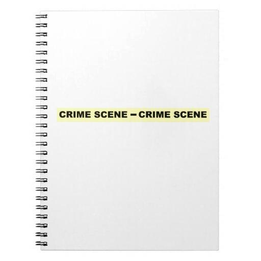 Cinta de la escena del crimen libreta espiral