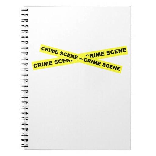Cinta de la escena del crimen cuadernos