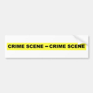 Cinta de la escena del crimen pegatina para auto