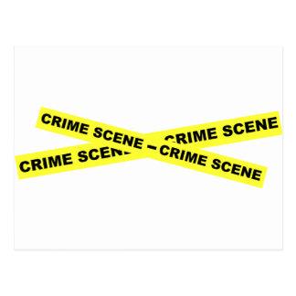 Cinta de la escena del crimen tarjetas postales