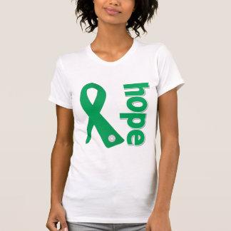 Cinta de la esperanza de la enfermedad del higado remera