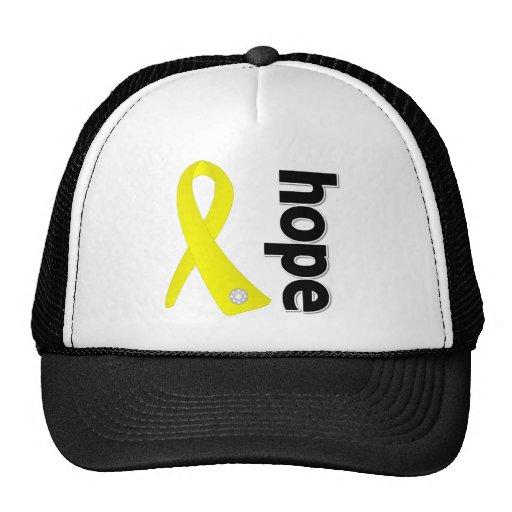 Cinta de la esperanza de la prevención del suicidi gorro de camionero