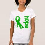 Cinta de la esperanza de la salud mental camisetas