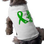 Cinta de la esperanza de la salud mental ropa para mascota