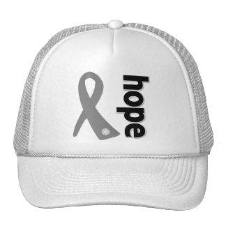 Cinta de la esperanza del cáncer de cerebro gorras