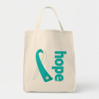 Cinta de la esperanza del cáncer de cuello del bolsa tela para la compra