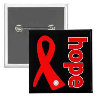 Cinta de la esperanza del cáncer de sangre pin