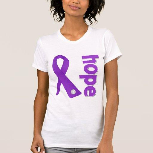 Cinta de la esperanza del lupus camisetas