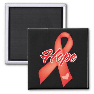 Cinta de la esperanza - enfermedad cardíaca imanes