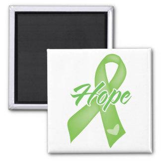 Cinta de la esperanza - enfermedad de Lyme Imán Cuadrado