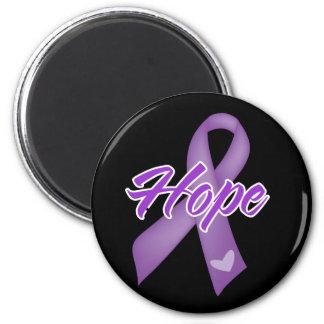 Cinta de la esperanza - lupus imán de nevera