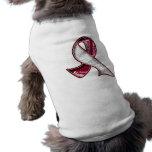 Cinta de la filigrana del lema del cáncer de cabez ropa perro