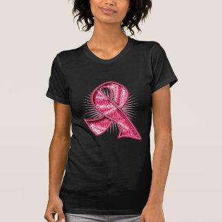 Cinta de la filigrana del lema del cáncer de pecho camisetas