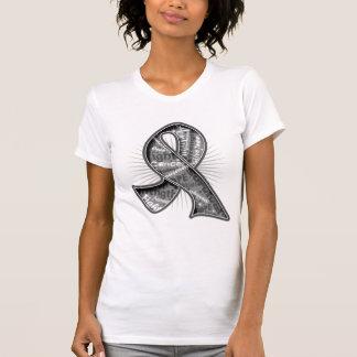 Cinta de la filigrana del lema del tumor cerebral camiseta