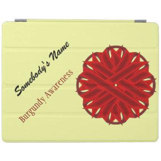 Cinta de la flor de Borgoña Cubierta De iPad