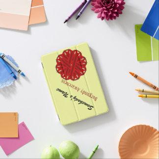 Cinta de la flor de Borgoña Cubierta De iPad Mini