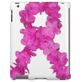 Cinta de la flor de la conciencia del cáncer de pe funda para iPad