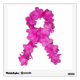 Cinta de la flor de la conciencia del cáncer de pe vinilo