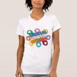 Cinta de la flor de la conciencia del cáncer - camisetas