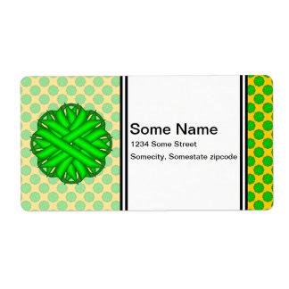 Cinta de la flor de la verde lima etiquetas de envío