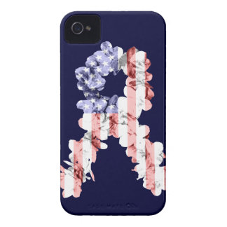 Cinta de la flor de las barras y estrellas iPhone 4 protectores