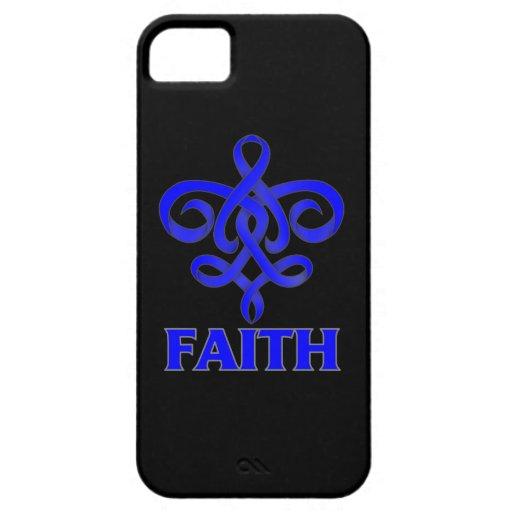 Cinta de la flor de lis de la fe de ARDS iPhone 5 Carcasas