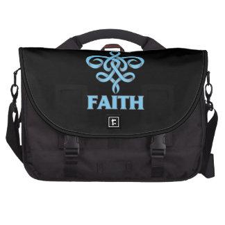 Cinta de la flor de lis de la fe de la enfermedad  bolsas de portátil