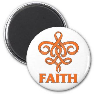 Cinta de la flor de lis de la fe de la esclerosis  imanes