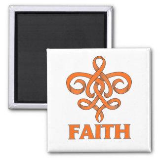 Cinta de la flor de lis de la fe de la esclerosis  imán para frigorífico