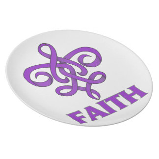 Cinta de la flor de lis de la fe de la malformació plato de cena
