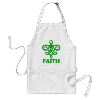 Cinta de la flor de lis de la fe de la salud menta delantal