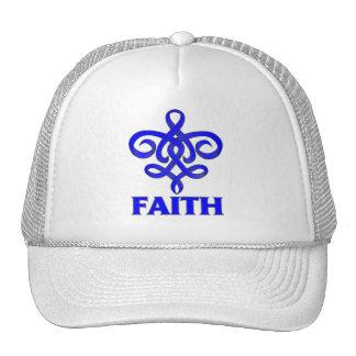 Cinta de la flor de lis de la fe del cáncer de col gorras de camionero