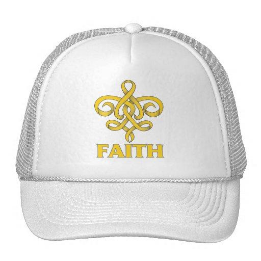Cinta de la flor de lis de la fe del cáncer de la  gorras
