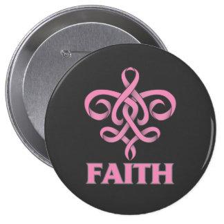 Cinta de la flor de lis de la fe del cáncer de pec pin