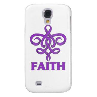 Cinta de la flor de lis de la fe del cáncer del ES Funda Para Galaxy S4