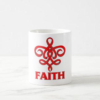 Cinta de la flor de lis de la fe del SIDA Taza Clásica
