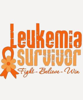 Cinta de la flor del superviviente de la leucemia t shirt