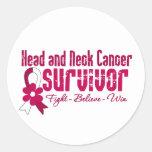 Cinta de la flor del superviviente del cáncer de c etiqueta