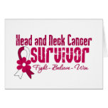 Cinta de la flor del superviviente del cáncer de c felicitación